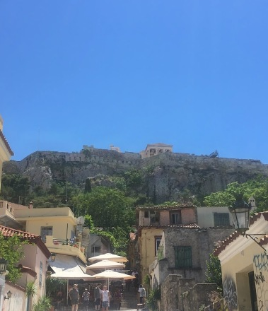 View of Acropolis hill from below